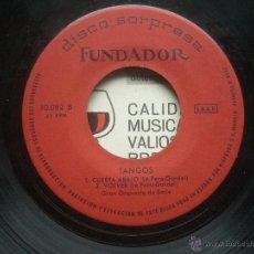 Discos de vinilo: SINGLE FUNDADOR CON CARATULA TANGOS EP 1965 VER FOTOS. Lote 52727937