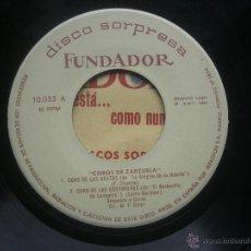 Discos de vinilo: SINGLE FUNDADOR CON CARATULA COROS DE ZARZUELA EP 1964 VER FOTOS. Lote 52727996
