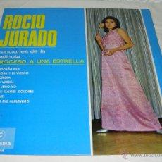 Discos de vinilo: LP. ROCIO JURADO. CANCIONES DE LA PELÍCULA PROCESO A UNA ESTRELLA. EXCELENTE ESTADO.. Lote 52728301
