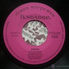 Discos de vinil: SINGLE FUNDADOR CON CARATULA AMINA EP 1970 VER FOTOS. Lote 52728347