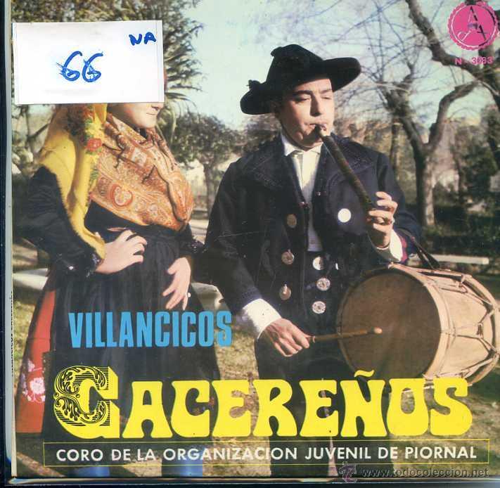 NAVIDAD - VILLANCICOS CACEREÑOS - CORO DE LA ORGANIZACION JUVENIL DE PIORNAL (EP 1969) (Música - Discos de Vinilo - EPs - Otros estilos)