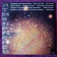 Discos de vinilo: ATMOSPHERES (CBS 1984) LP USA, PHILIP GLASS OSAMU KITAJIMA BJORN J STEVE KUJALA VOLLENWEIDER ANDREAS. Lote 52733507