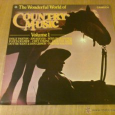 Discos de vinilo: VARIOUS - THE WONDERFUL WORLD OF COUNTRY MUSIC. VOLUME 1 (LP 1971, CAMDEN CDS 1180). Lote 52735745