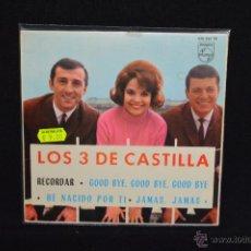 Discos de vinilo: LOS 3 DE CASTILLA - RECORDAR +3 - EP. Lote 52743967