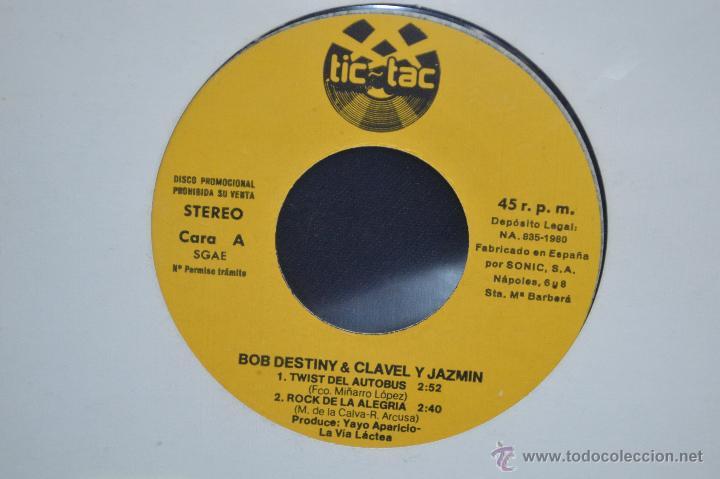 Discos de vinilo: BOB DESTINY & CLAVEL Y JAZMÍN - TWIST DEL AUTOBÚS + 3 - EP PROMOCIONAL TIC TAC - Foto 2 - 52744081