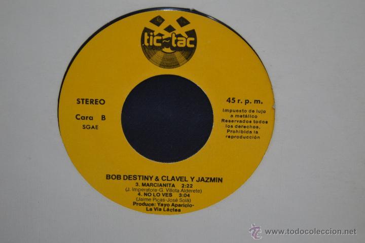 Discos de vinilo: BOB DESTINY & CLAVEL Y JAZMÍN - TWIST DEL AUTOBÚS + 3 - EP PROMOCIONAL TIC TAC - Foto 3 - 52744081