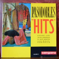 Discos de vinilo: PASODOBLES - HITS (VERGARA, 1963). Lote 52752126