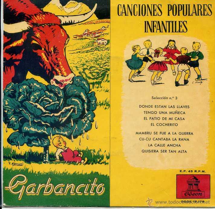 CANCIONES POPULARES INFANTILES SELECCION Nº 3 (EP 1959) (Música - Discos de Vinilo - EPs - Música Infantil)