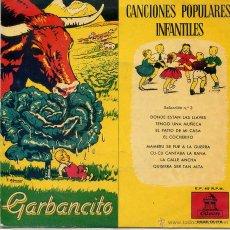 Discos de vinilo: CANCIONES POPULARES INFANTILES SELECCION Nº 3 (EP 1959). Lote 52758549