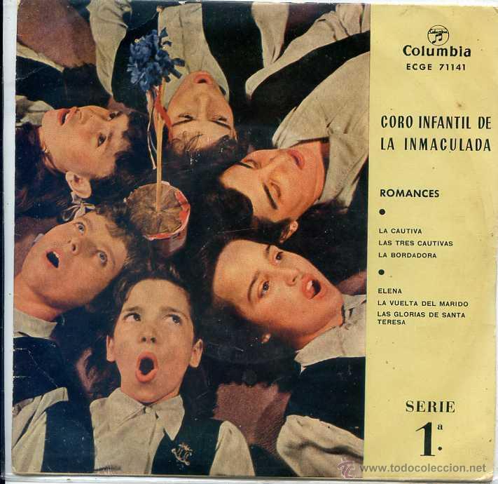 CORO INFANTIL DE LA INMACULADA - ROMANCES SERIE 1ª (EP 1959) (Música - Discos de Vinilo - EPs - Música Infantil)