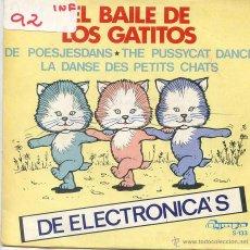 Discos de vinilo: DE ELECTRONICA'S / EL BAILE DE LOS GATITOS / DAISY (SINGLE 1982). Lote 52759083