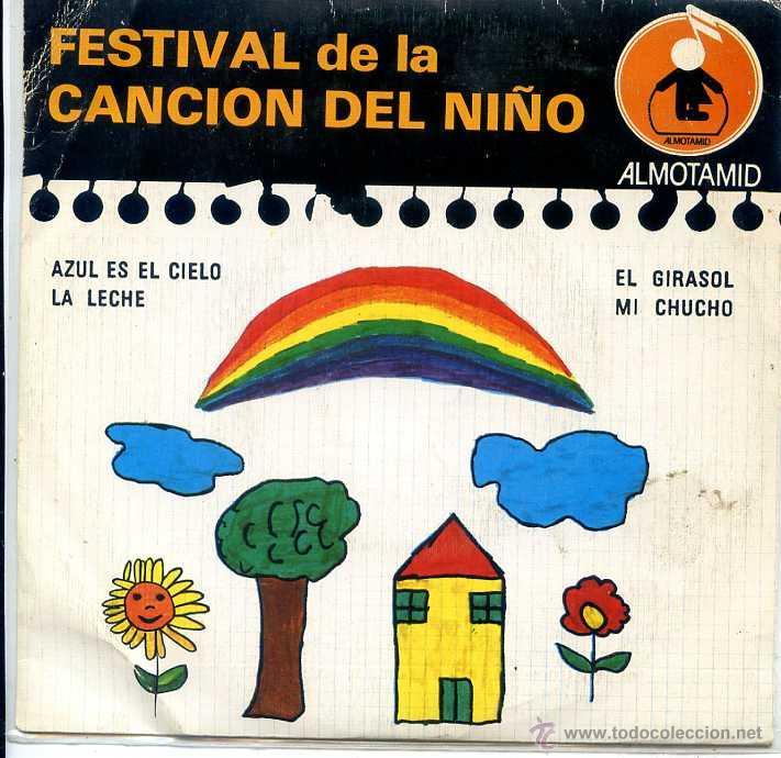 FESTIVAL DE LA CANCION DEL NIÑO / AZUL ES EL CIELO + 3 (EP 1979) (Música - Discos de Vinilo - EPs - Música Infantil)