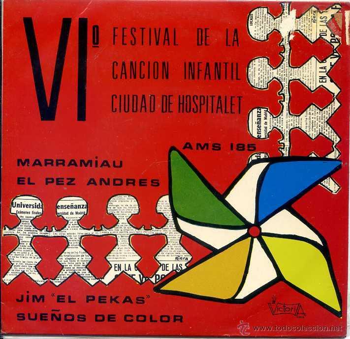 VI FESTIVAL DE LA CANCION INFANTIL CIUDAD DE HOSPITALET (EP 1971) (Música - Discos de Vinilo - EPs - Música Infantil)