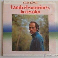 Discos de vinilo: LLUÍS LACH. I AMB EL SOMRIURE LA REVOLTA. LP DOBLE PORTADA.. Lote 52759956