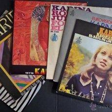 Discos de vinilo: COLECCIÓN DE 6 SINGLES DE KARINA. VER FOTOGRAFIAS ADJUNTAS PARA VER DETALLES . Lote 52762990