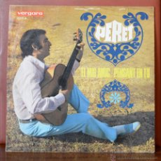Discos de vinilo: PERET - EL MIG AMIC/PENSANT EN TU (VERGARA, 1968). Lote 52769892