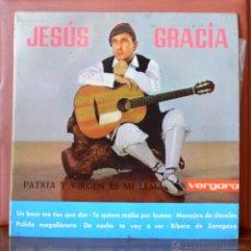 Discos de vinilo: JESUS GRACIA - PATRIA Y VIRGEN ES MI LEMA (VERGARA, 1963). Lote 52770004