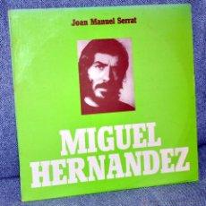 """Discos de vinilo: JOAN MANUEL SERRAT - MIGUEL HERNÁNDEZ - LP 12"""" - CON INSERTO - EDITADO EN PORTUGAL - TECLA 1973. Lote 52780211"""