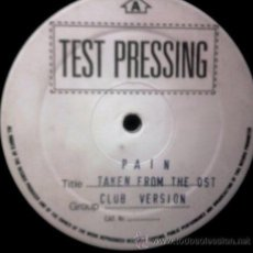 Discos de vinilo: LEE MARROW - PAIN - TEST PRESSING - MAXI - CARPETA GENERICA. Lote 52793412