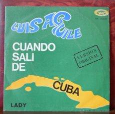 Discos de vinilo: LUIS AGUILE - CUANDO SALI DE CUBA (MOVIEPLAY, 1967). Lote 52801177