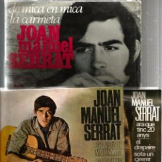 Discos de vinil: 5 DISCOS DE SERRAT (4 EP´S + 1 SINGLE) PRIMERES CANÇONS EN CATALÀ . Lote 52801187