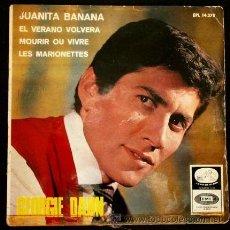 Discos de vinilo: GEORGIE DANN (EP.1966) - JUANITA BANANA - LES MARIONETTES - MOURIR OU VIBRE - GEORGE. Lote 52813326