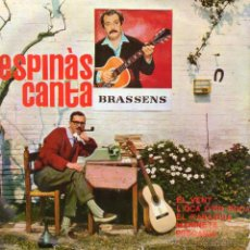Discos de vinilo: ESPINAS CANTA BRASSENS , EP, EL VENT + 3, AÑO 1962. Lote 52819066
