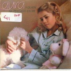 Discos de vinilo: LAURA / Y QUIEN HA PENSADO EN MI / CARASUCIA (SINGLE PROMO 1983). Lote 52820457