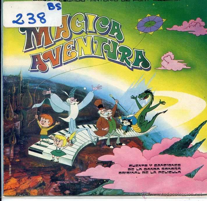 MAGICA AVENTURA / CANCION DE LOS FANTASMITAS / QUE BONITO ES VOLAR + 2 (EP 1973) (Música - Discos de Vinilo - EPs - Música Infantil)