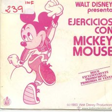Discos de vinilo: MICKEY MOUSE / MEZCLA GIMNASTICA (SINGLE PROMO 1983). Lote 52820921