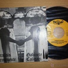 Discos de vinilo: PARÁLISIS PERMANENTE/ GABINETE CALIGARI. Lote 52822845