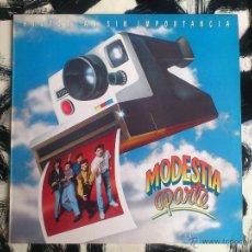 Discos de vinilo: MODESTIA APARTE - HISTORIAS SIN IMPORTANCIA - LP - VINILO - POLYGRAM - 1991. Lote 52825288