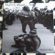 Discos de vinilo: RAZED HIGH - INVISIBLE - LP - VINILO - INSIDUOUS - 2001. Lote 52825589