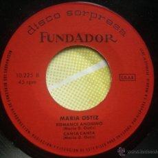 Discos de vinilo: SINGLE FUNDADOR CON CARATULA MARIA OSTIZ EP 1971 VER FOTOS. Lote 52831649