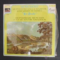 Discos de vinilo: DISCO VINILO SCHUBERT QUINTETTE EN LA MAJEUR POUR PIANO ET CORDES LA FRUITE EMI 1970 DCL016. Lote 52831991