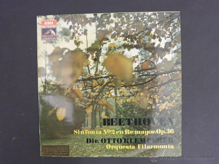 DISCO VINILO BEETOHOVEN SINFONIA N2 EN RE MAYOR OP 36 EMI LA VOZ DE SU AMO 1970 DCL017 (Música - Discos - Singles Vinilo - Clásica, Ópera, Zarzuela y Marchas)