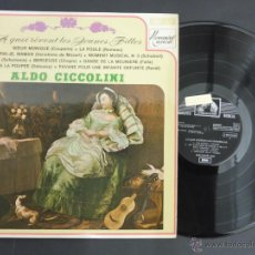 Discos de vinilo: DISCO VINILO A QUOI REVENT LES JEUNES FILLES ALDO CICCOLINO EMI LA VOZ DE SU AMO 1970 DCL019. Lote 52834099
