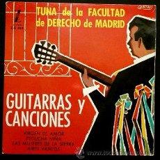 Discos de vinilo: TUNA DE LA FACULTAD DE DERECHO DE MADRID - GUITARRAS Y CANCIONES - EP.ZAFIRO 1963. Lote 52839853
