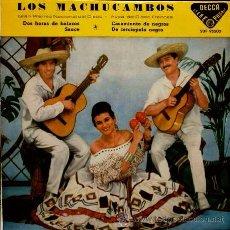 Discos de vinilo: LOS MACHUCAMBOS - GRAN PREMIO NACIONAL DEL DISCO (EP DECCA 1960) SDF 95503. Lote 52839970