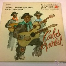 Discos de vinilo: CARLOS GARDEL.¡SILENCIO! .EP.ESPAÑA 1962.RCA VICTOR.. Lote 52841610
