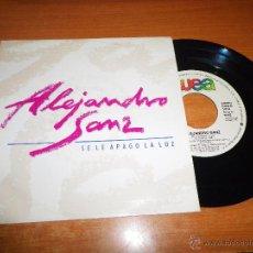 Discos de vinilo: ALEJANDRO SANZ SE LE APAGO LA LUZ SINGLE VINILO PROMO 1991 MIGUEL ANGEL ARENAS MISMO TEMA. Lote 52846964