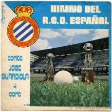 Discos de vinilo: JOSÉ GUARDIOLA / RICARDO PASTOR – HIMNO DEL R.C.D. ESPAÑOL - SG SPAIN 1974 - OLYMPO S-38. Lote 52847171
