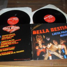 Discos de vinilo: BELLA BESTIA LP LISTA PARA MATAR MADE IN SPAIN. 1986 DOBLE ALBUM EDICION ESPECIAL GATEFOLD SLEEVE. Lote 67588789