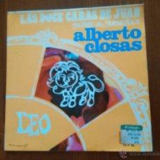 Discos de vinilo: ALBERTO CLOSAS. LAS DOCE CARAS DE JUAN. LEO. DISCO HORÓSCOPO- SINGLE ZAFIRO 1968 JAIME DE ARMIÑAN. Lote 52855562