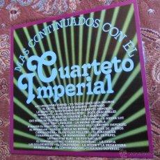Discos de vinilo: CUARTETO IMPERIAL- DISCO DE VINILO- TITULO MAS CONTINUADOS CON EL - 39 TEMAS- ORIGINAL DEL 80-NUEVO. Lote 52856512