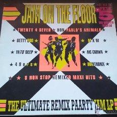 Disques de vinyle: VARIOUS - JAM ON THE FLOOR - LP - 1990. Lote 52856833