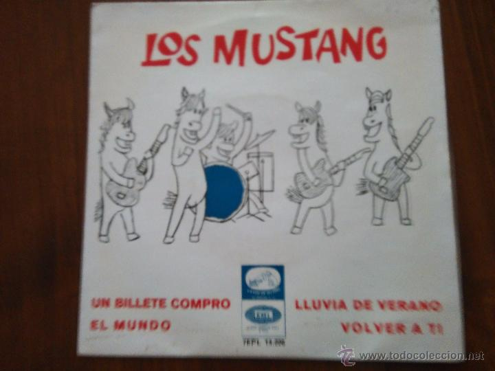 LOS MUSTANG UN BILLETE COMPRO EP 1965 SPANISH RARE GARAGE BEAT
