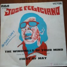 Discos de vinilo: SINGLE JOSE FELICIANO. THE WINDMILLS OF YOUR MIND / FIRST OF MAY. Lote 52863042