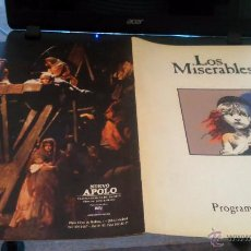 Discos de vinilo: LOS MISERABLES,PROGRAMA SOUVENIR AÑOS 80. Lote 52868102
