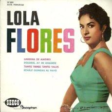 Discos de vinilo: LOLA FLORES EP SELLO SEECO AÑO 1961 EDITADO EN ESPAÑA . Lote 52871466